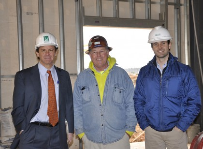 Pictured from left to right: David Costello, president of Costello Construction; Kurt Braun, Project Superintendent; Brian Malanchuk, Project Manager