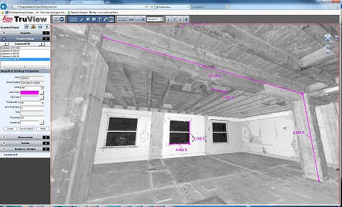 Graphics of Web Viewer, TruView. Photo credit Rick Engineering